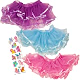 Tutus for Girls Set Of 3 - Dress Up Tutu Costumes - Pink, Purple and Blue