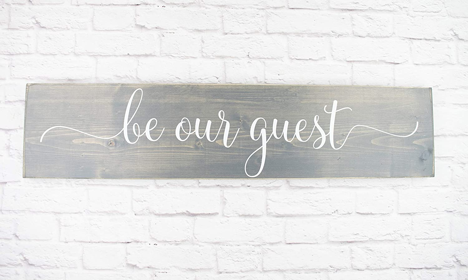 Handmade Wood Sign BE OUR GUEST Hanging Farmhouse BEDROOM Distressed Home Decor