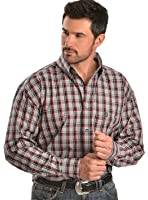 WRANGLER MEN'S GEORGE STRAIT LONG SLEEVE PLAID SHIRT