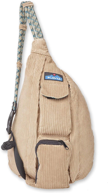 KAVU Mini Rope Cord Bag Corduroy Sling-Heritage Khaki