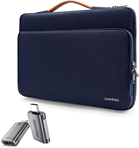 tomtoc 360 Protective Laptop Case with tomtoc USB C to USB Adapter Thunderbolt 3 to USB 3.0 Adapter for 13-inch New MacBook Air, MacBook Pro USB-C, Surface Pro