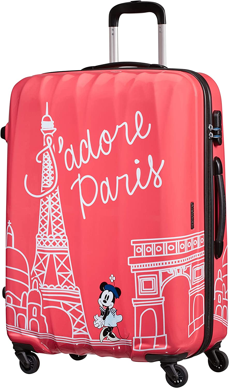 American Tourister Disney Legends Spinner L Maleta Infantil, 75 cm, 88 L, Rosa (Take Me Away Minnie Paris)
