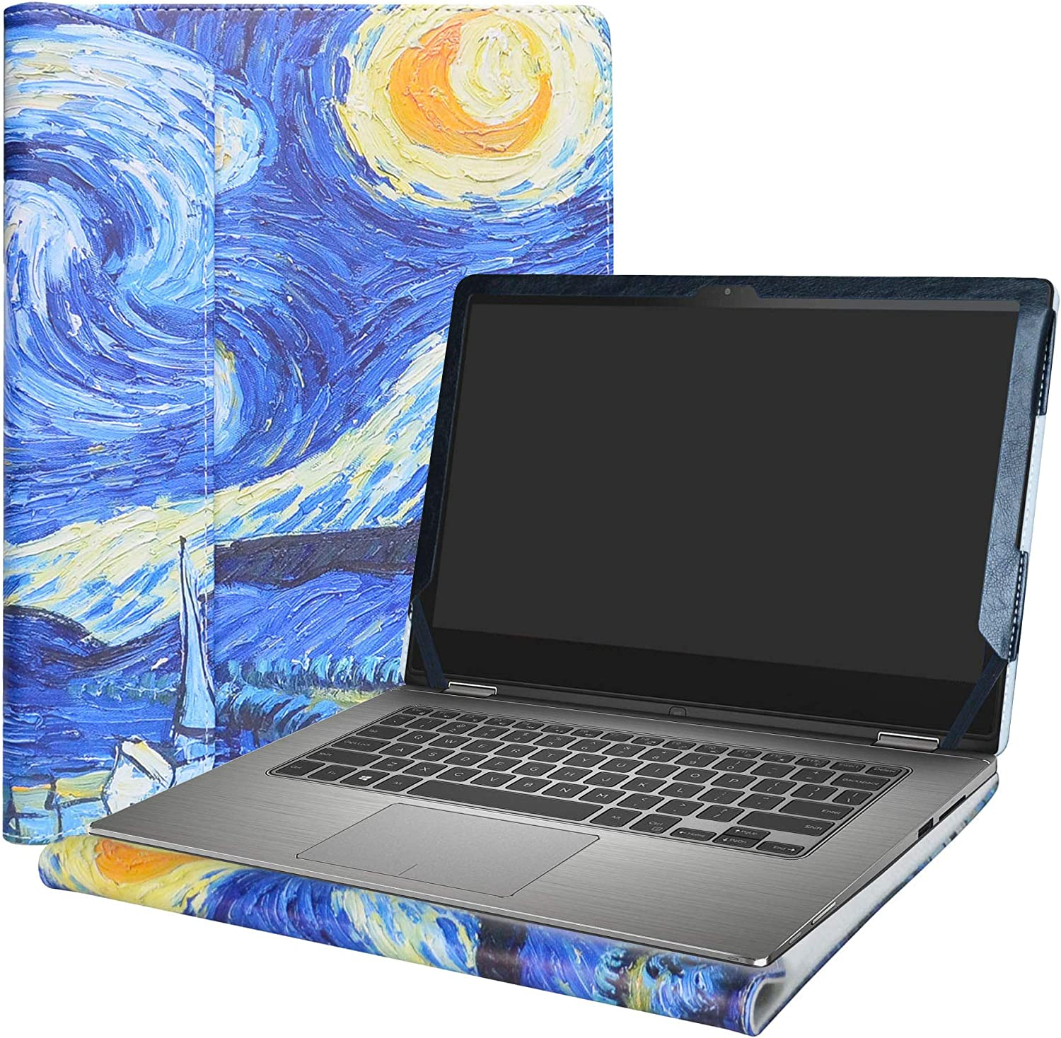 """Alapmk Protective Case Cover for 13.3"""" Dell Inspiron 13 2-in-1 7359 7353 7352 7348 7347 Series Laptop(Warnig:Not fit Inspiron 13 2-in-1 7378 7375 7368 7373),Starry Night"""