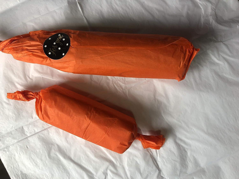 Orange MKISHINE 30 Feuilles de Papier de Soie+24 gommettes d/écoratif,Feuille de Soie r/ésistant pour Artisanat et d/écoration,Papier Colore pour emballer des Cadeaux 50 x 70cm