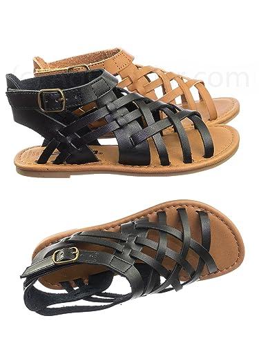 81d5443c554 Amazon.com | Aquapillar Girl Child Vintage Gladiator Flat Open Toe ...