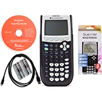 Texas Instruments TI 84 Plus Graphing Calculator with Guerrilla Military Grade Screen Protector Set, Certified Reconditioned