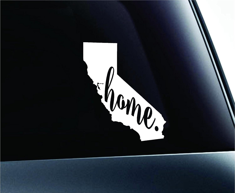 Amazon com 3 home california state sacramento silhouette symbol sticker decal car truck window computer laptop white automotive