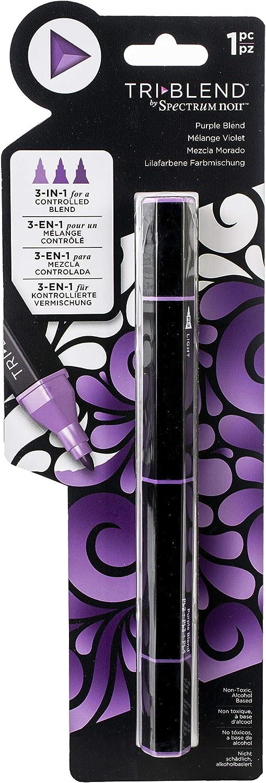 Spectrum Noir Blend Triblend Blendable Alcohol Marker 3 Colours in 1 Pen-Purple
