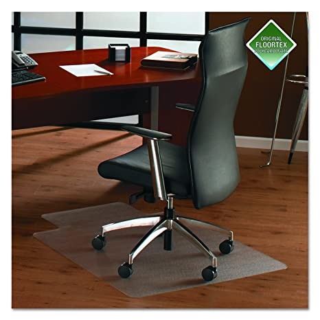Beau Cleartex Ultimat Chair Mat, Clear Polycarbonate, For Hard Floors,  Rectangular With Lip,