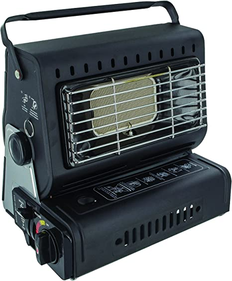 Highlander Camping Portable Compact Gas Heater - Black by ...