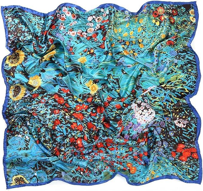 prettystern Gustav Klimt Van Gogh XXL Seiden-tuch Handrouliert