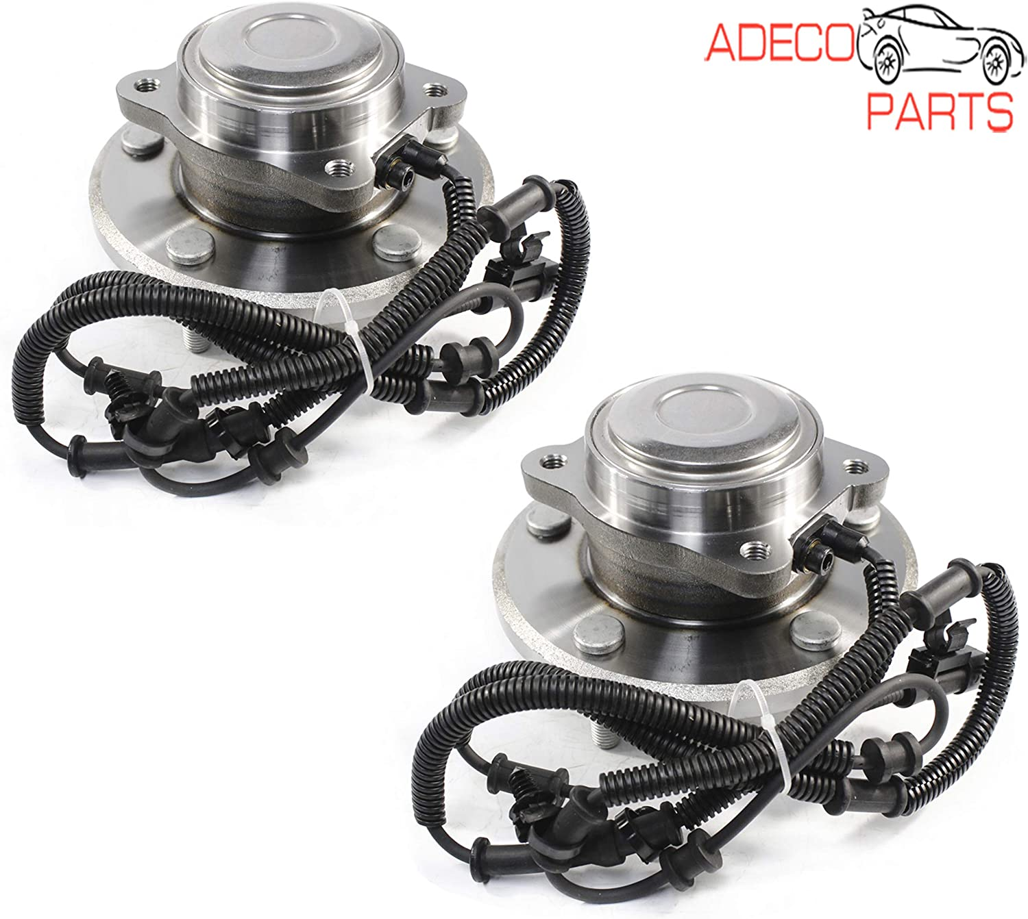 AdecoAutoParts/© Front and Rear Wheel bearing Hub assembly for Dodge Grand Caravan Chrysler Town /& Country Ram C//V Volkswagen Routan HA590447 HA590448