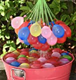 Original Holi Water Balloons / Multcolor Magic Water Balloon Maker - 3 Pack - 111 Balloons in Total- Fill & Tie the Whole Bunch of Water Balloons in Just 60 Seconds - No More Struggle or Hassle - Great Holi Festival And Outdoor Water Sports Fun! ( FREE TAP Nozzel)