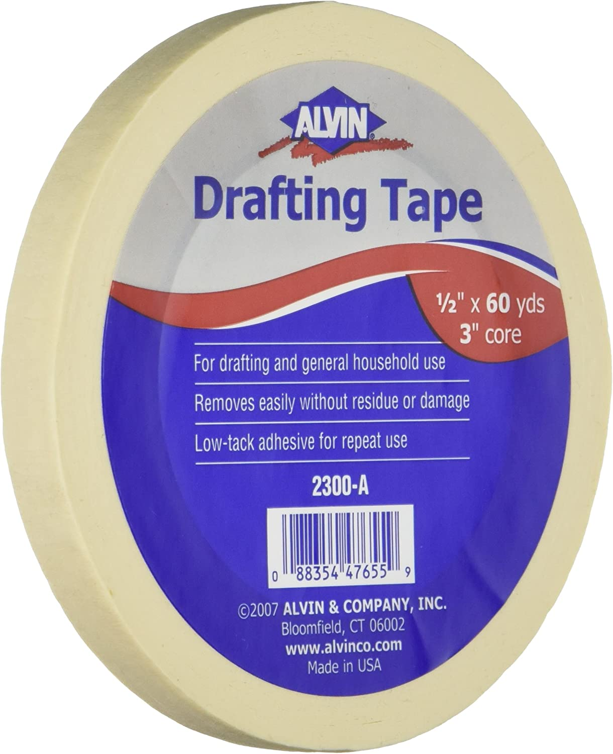 "Alvin, 2300-A, Drafting Tape, 0.5"" x 60 Yards : Masking Tape : Office Products"