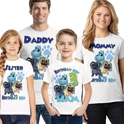e2be6d17 Amazon.com: Puppy Dog Pals Birthday Shirt, Boys Puppy Dog Pals birthday  shirt: Handmade