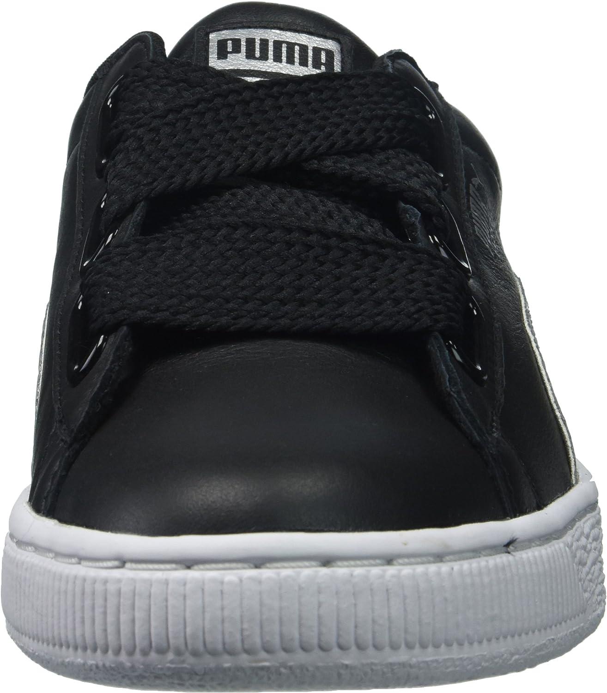 PUMA Women's Basket Heart Glitter Wn Sneaker Puma Black/Silver