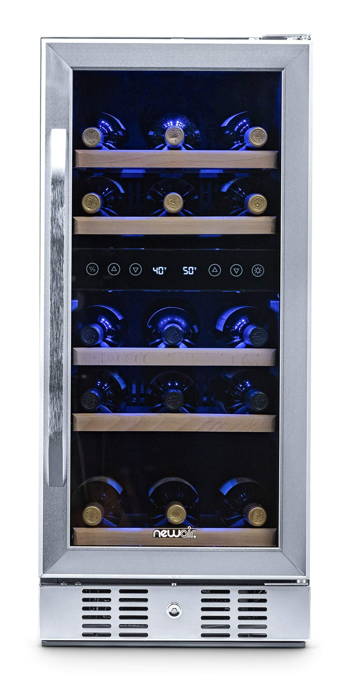 NewAir AWR-290DB Wine Cooler, 29 Bottle, Stainless Steel by NewAir