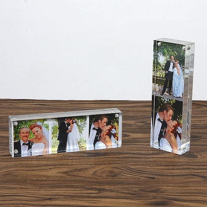 Marco Acrílico Transparente 5x15cm (15+15 mm de espesor), Regalo de Cumpleaños y Vacaciones por NIUBEE: Amazon.es: Hogar