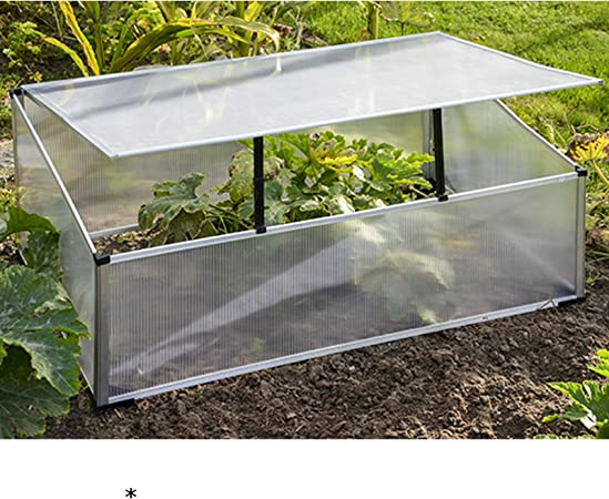 Aluminio Invernadero 100 x 60 x 40 cm Con aufstellbarem techo • 100 x 60 cm aluminio policarbonato Invernadero Tomates Invernadero Vivero: Amazon.es: Hogar