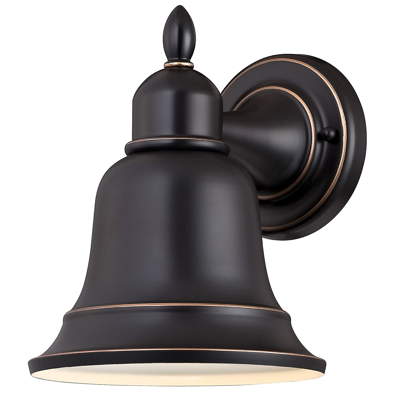 Westinghouse Lighting 6204300 Roosevelt 1 Light Outdoor Wall Lantern, Amber Bronze