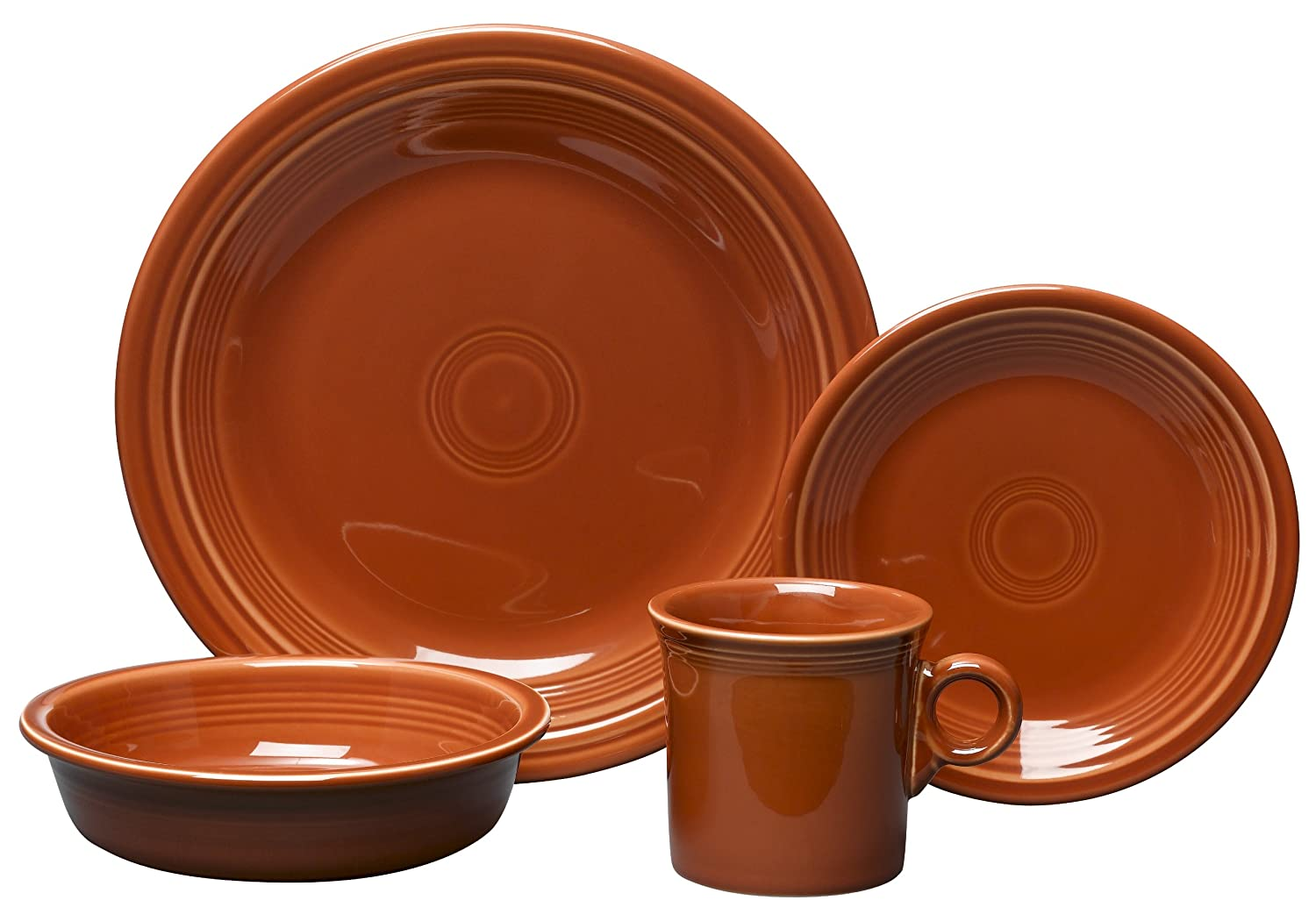 Amazon.com | Fiesta 4-Piece Place Setting Paprika Dinnerware Sets Dinnerware Sets  sc 1 st  Amazon.com : cheap fiesta dinnerware - pezcame.com