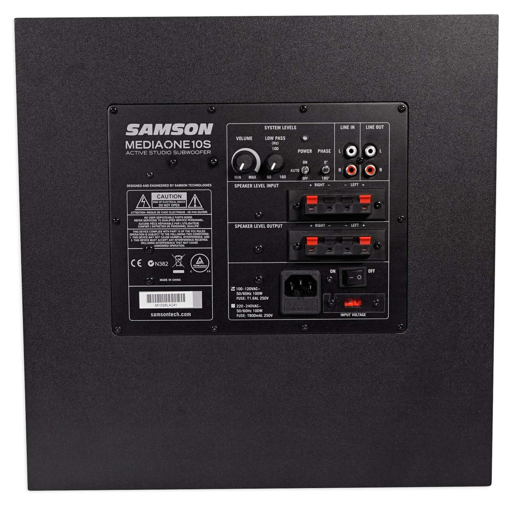 Samson MediaOne 10S 10'' 100 Watt Powered Gaming Twitch Live Stream Subwoofer Sub by Samson Technologies (Image #3)