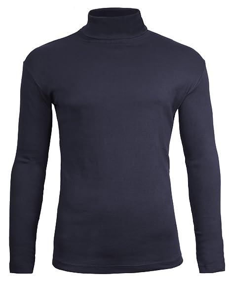 Camiseta de manga larga y cuello alto para hombre, de Brody & CoJersey de