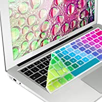 "PUBAMALL Cubre Teclado para MacBook Pro 13"" 15"" 17""/MacBook Air 13"",Thin Keyboard Cover Skin Soft TPU con español (Colorido)"