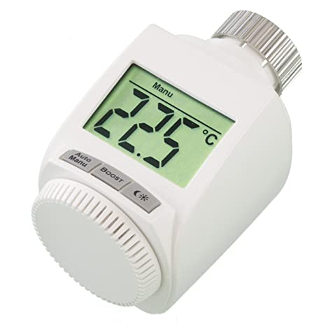 Termostato para radiador (incluye tuerca de metal robusta)