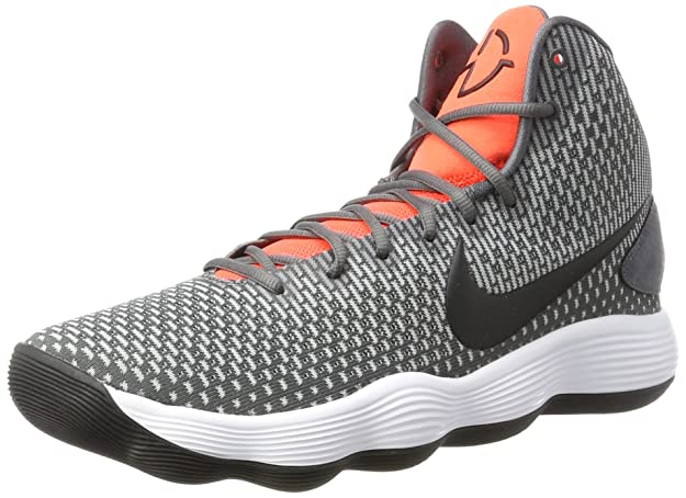 NIKE Men's Hyperdunk 2017 Basketball Shoe Dark Grey/Black/Bright Crimson Size 8 M US