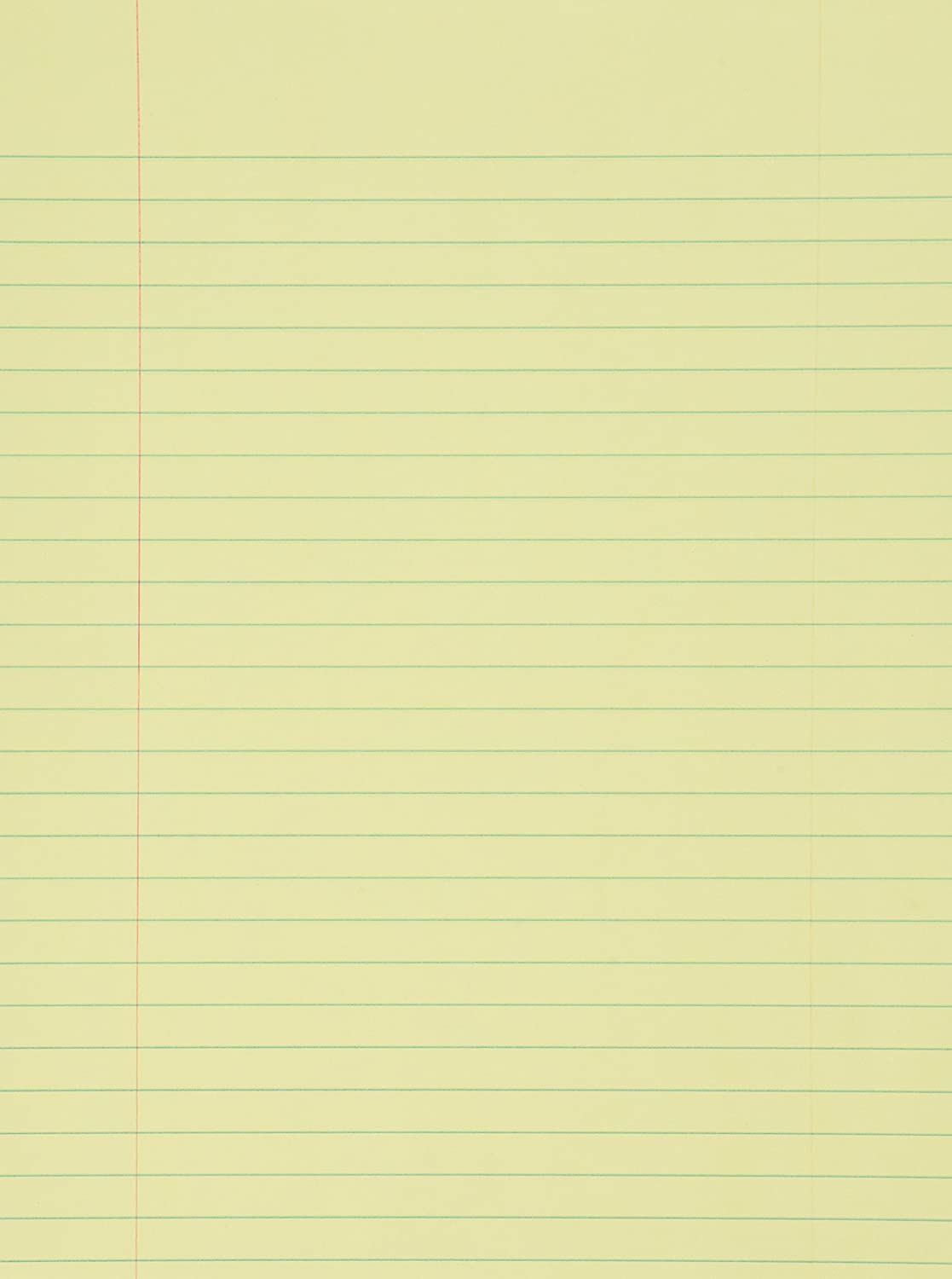 loose leaf yellow lined paper