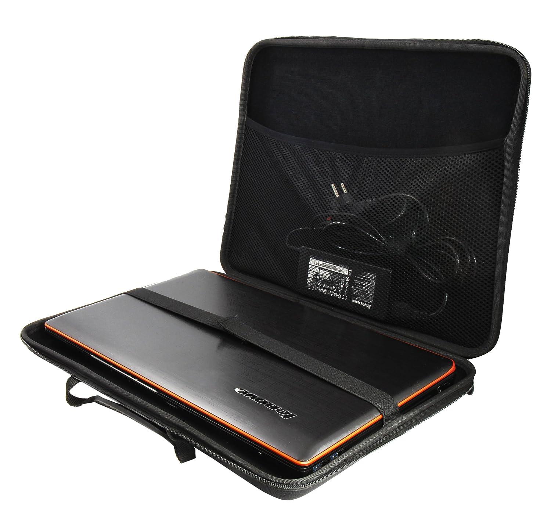 dd0d6fc45a Luxburg® design hardcase sacoche housse rigide pour ordinateur portable  14,2 pouces, motif: LX noir: Amazon.fr: Chaussures et Sacs