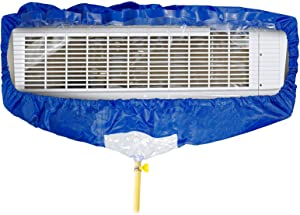 BJADE'S Air Conditioner Waterproof Cleaning Cover Bag kit, with Drain Hose and Two Sides Support Plates,Dust Washing Clean Bag for Wall Mounted Mini-Split A/C Units (S)