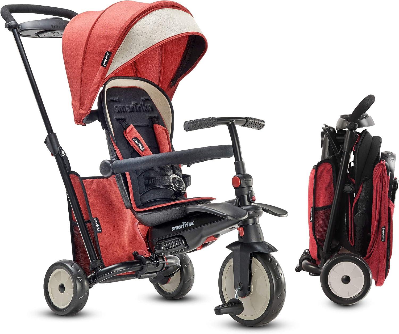 SmarTrike STR5 - Triciclo Plegable para niños con Certificado de Cochecito para 1,2,3 años – Triciclo de Varias etapas 7 en 1 (Rojo)