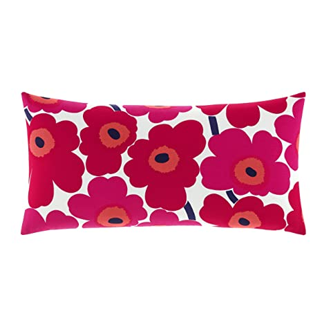 Marimekko Pieni Unikko Throw Pillow, 15 x 30, Red