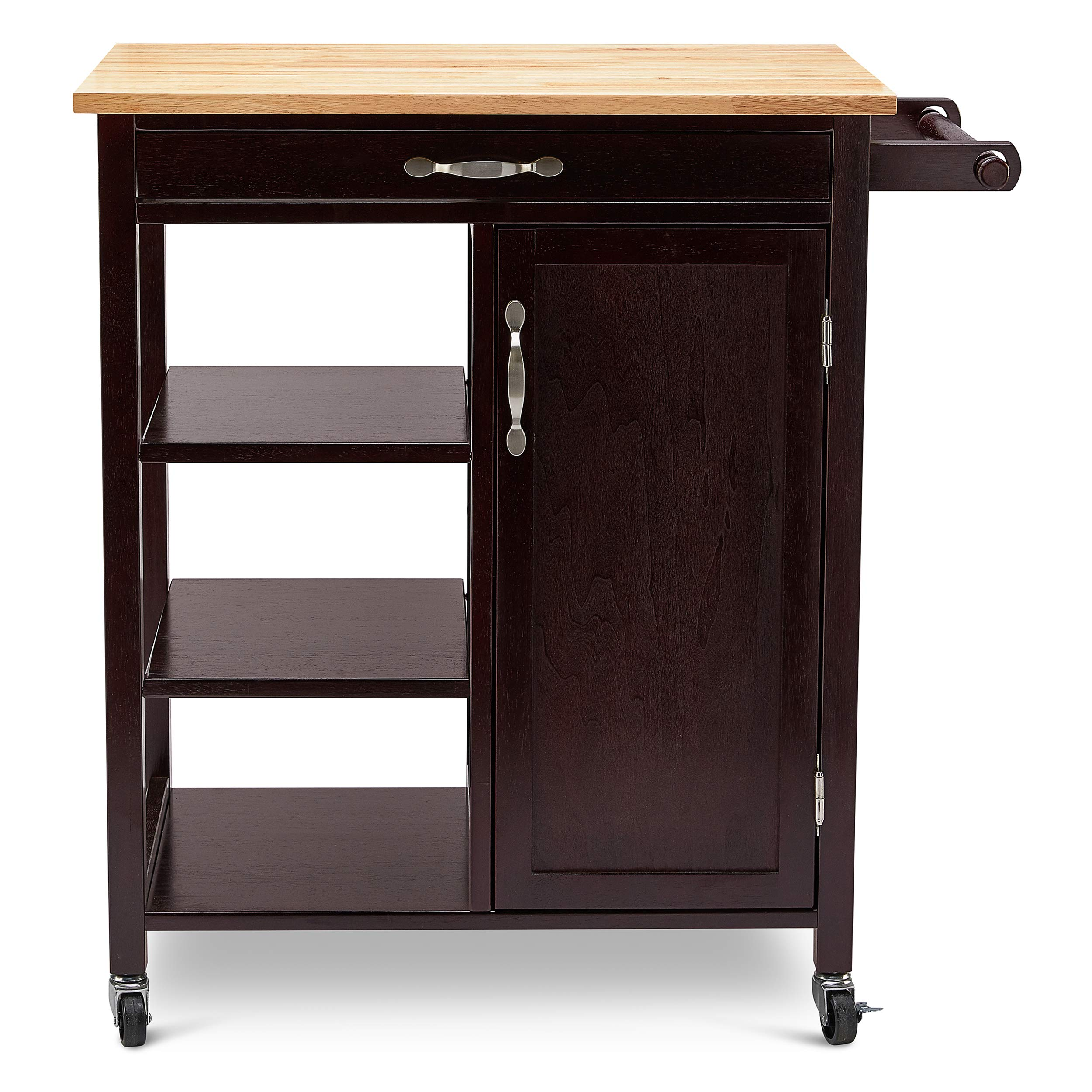 Civet Home 2-Toned Kitchen Cart, Espresso by Civet Home