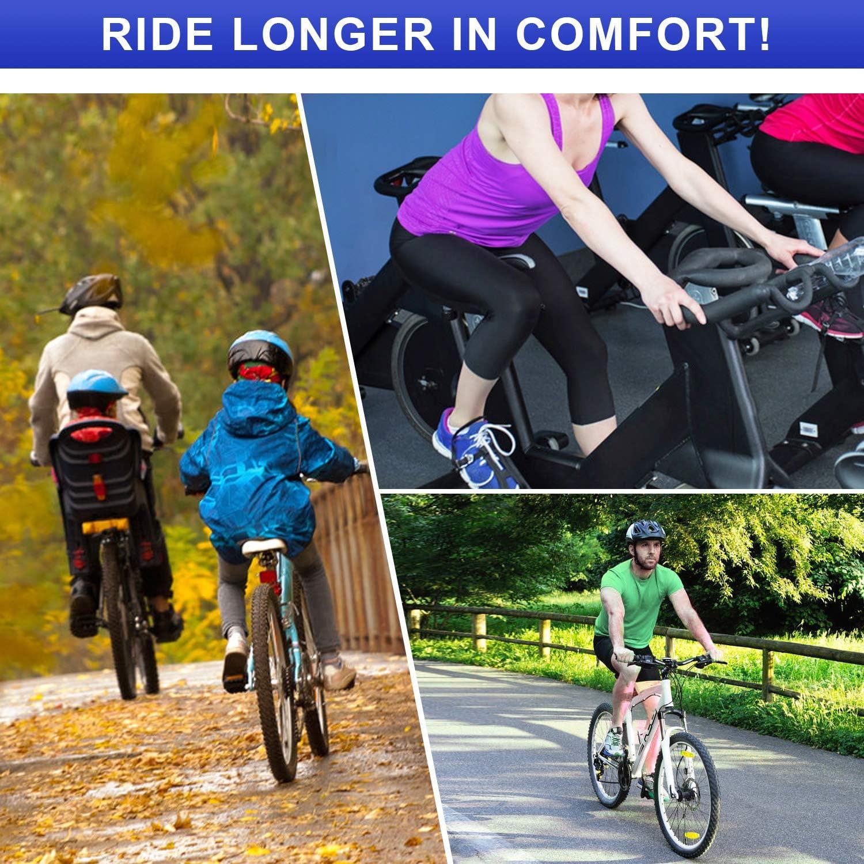 ANZOME Cubierta de Asiento de Bicicleta de Gel coj/ín de sill/ín de Bicicleta para sill/ín y Asiento de Bicicleta Cubierta de sill/ín de Bicicleta con Cubierta de sill/ín Impermeable