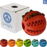 Zenify Puppy Toys Dog Toy Food Treat Interactive Puzzle Ball for Tooth Teething Chew Fetch Tennis Training Boredom Behaviour Dispensing Stimulation Pet Dogs & Puppies (Red Large)