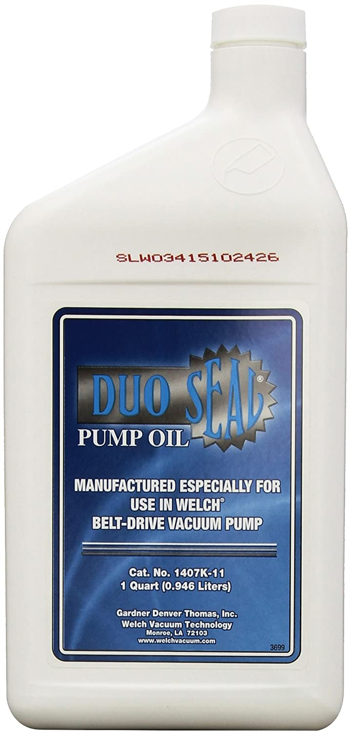 Welch Vacuum 1407K-11 Duo Seal Oil, 1 Quart