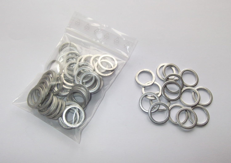 100 Stück Aluminiumringe Dichtringe Dichtung Alu 14x18x1 5 Mm Din 7603 Auto