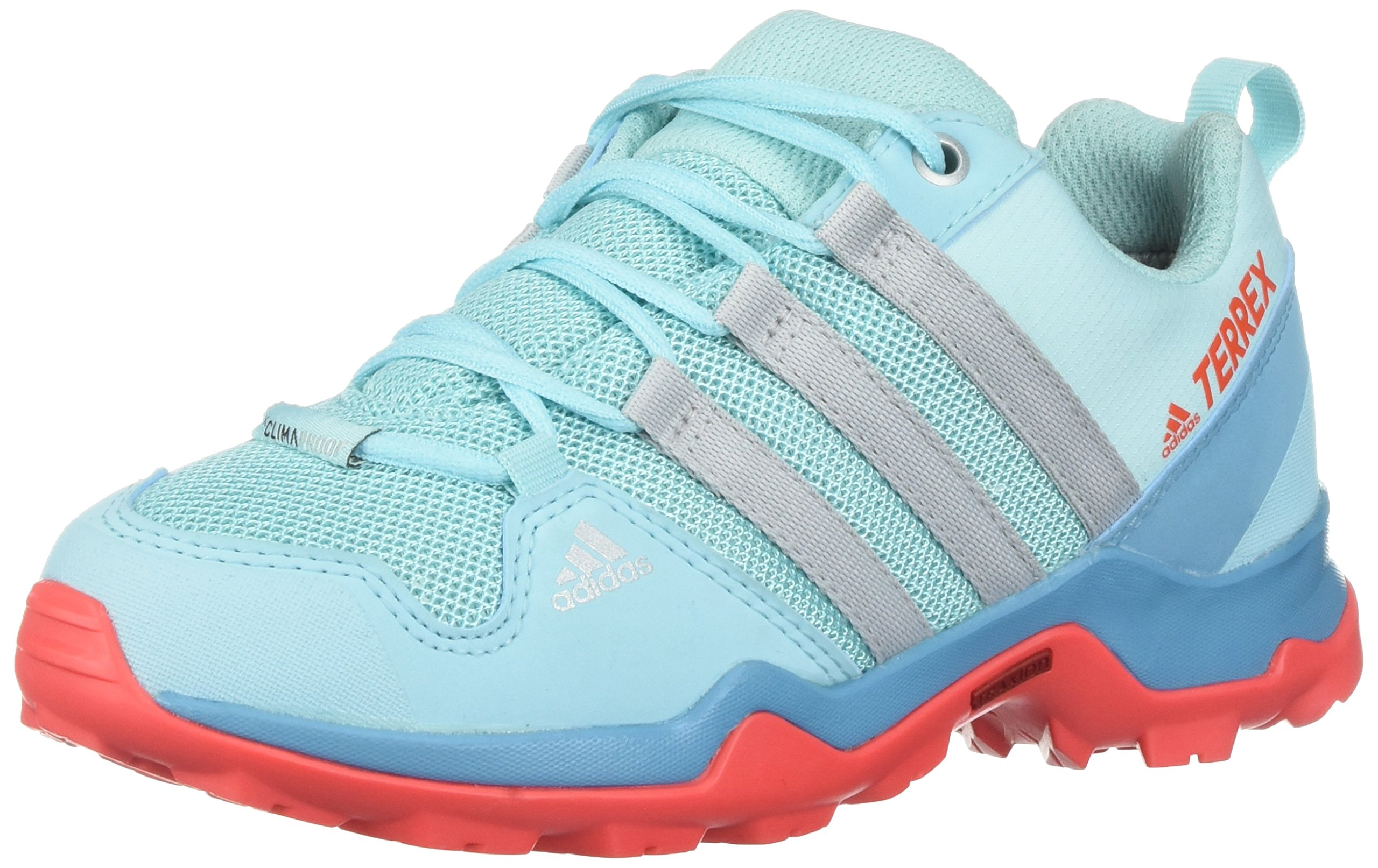 adidas outdoor Unisex Terrex AX2R CP K Hiking Shoe, Vapour Blue/Grey Two/Easy Coral, 6 Child US Big Kid
