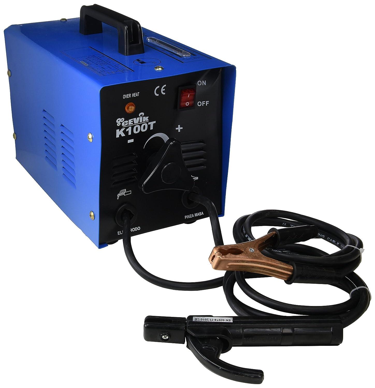 Cevik CE-K100 - Equipo de Soldadura 100 A. Electrodos de 1,6 a 2,50 mm. Con accesorios: Amazon.es: Industria, empresas y ciencia