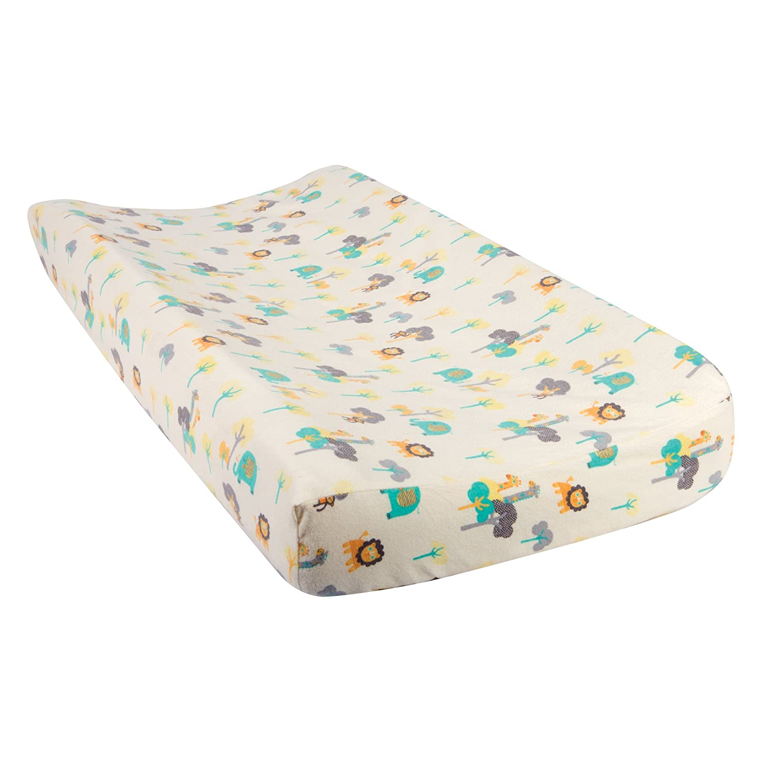 Trend Lab Lullaby Jungle Deluxe Flannel Changing Pad Cover 101385