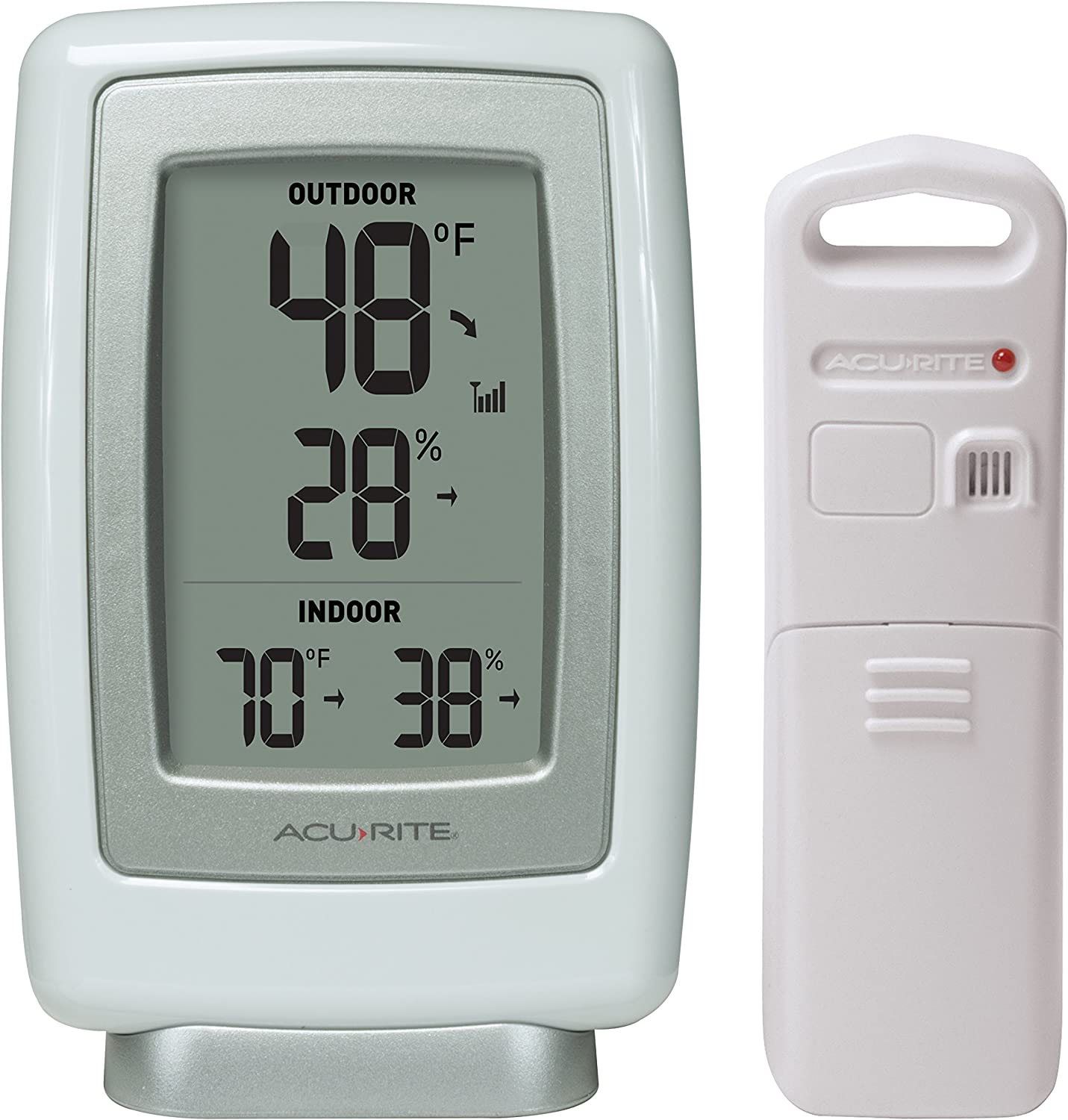 AcuRite 00611 Indoor Outdoor Thermometer with Wireless Temperature Sensor /& Hygrometer
