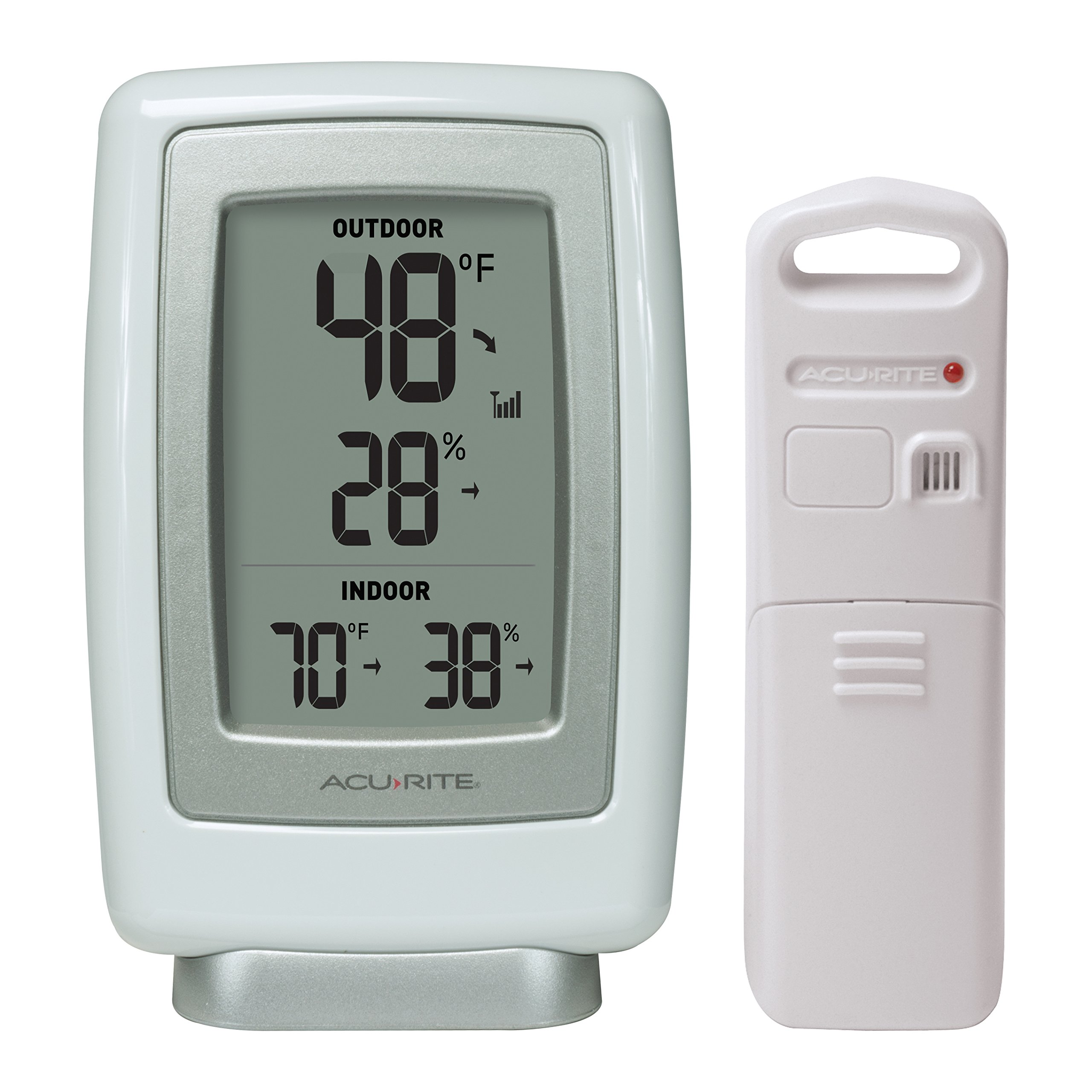AcuRite 00611 Indoor Outdoor Thermometer with Wireless Temperature Sensor & Hygrometer by AcuRite