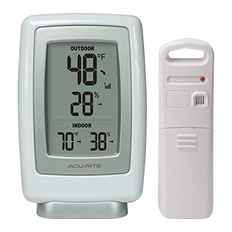 Amazon.com: AcuRite 00611A3 Wireless Indoor/Outdoor Thermometer ...