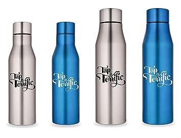 Grifo es fabuloso reutilizable botella de agua de acero inoxidable por grifo face, Azul