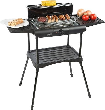 Elektrischer BBQ Barbeque Elektrogrill Standgrill Elektro Grill 2000W mit Ablage
