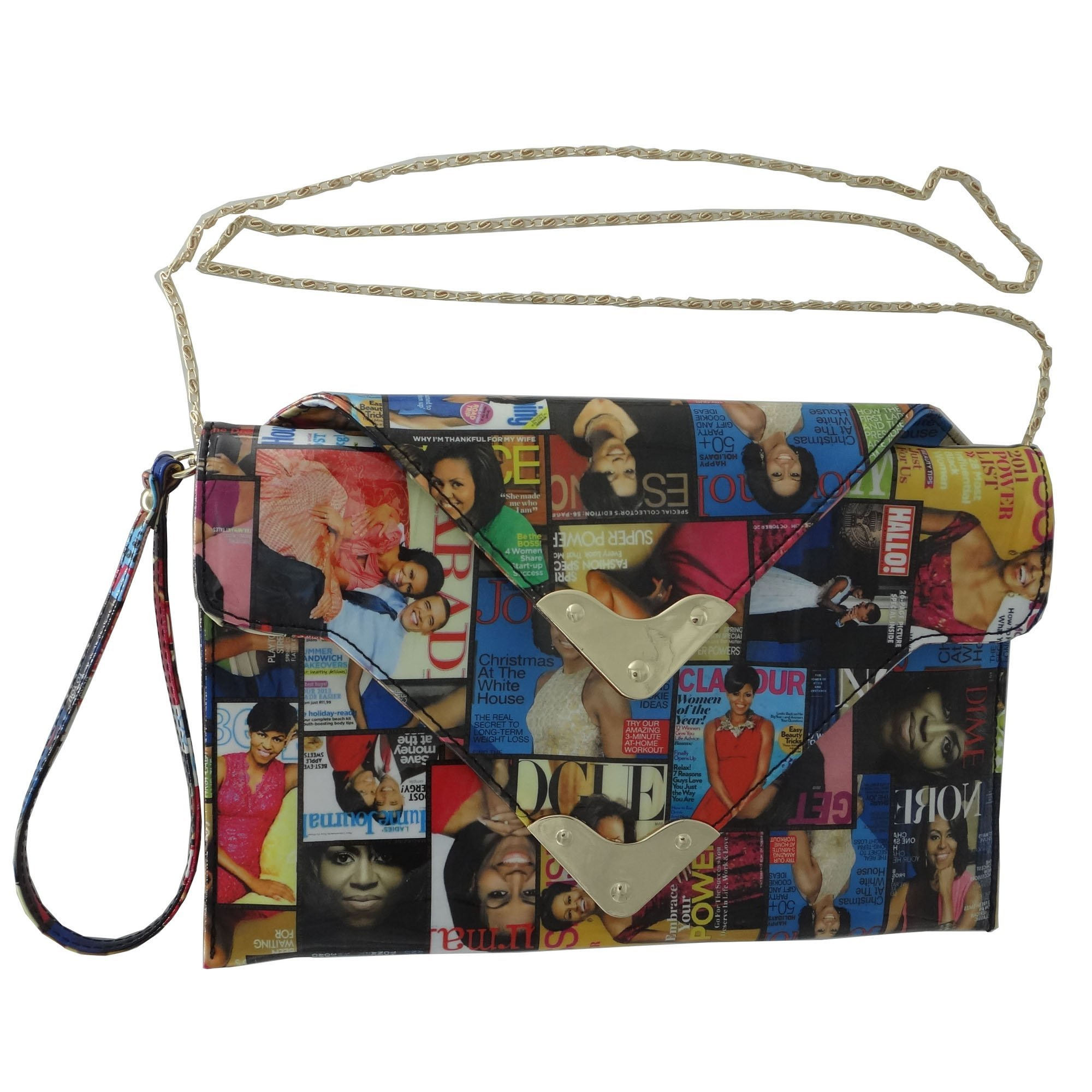 Michelle Obama Magazine Style Double Pocket Crossbody