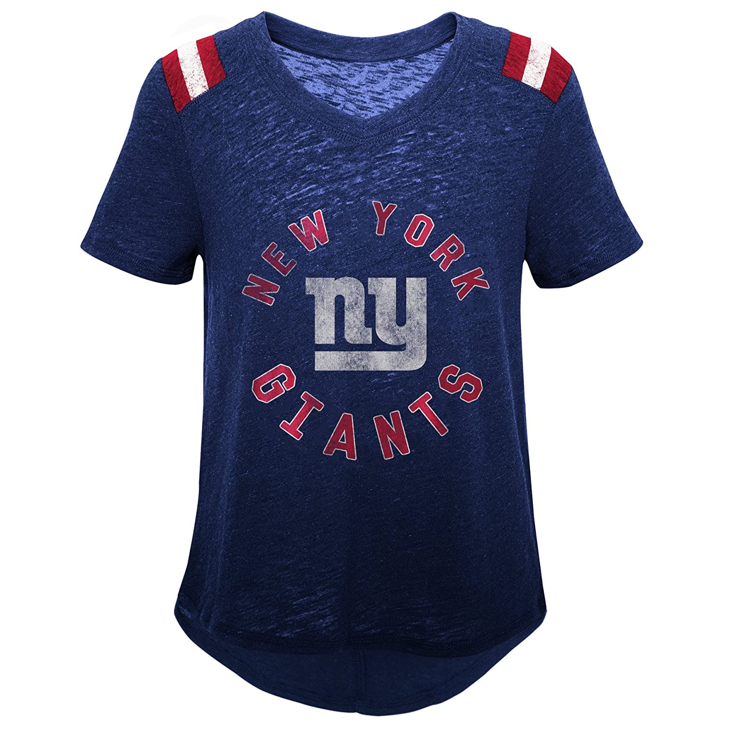 Outerstuff NFL NFL New York Giants Youth Girls Retro Block Vintage Short Sleeve Football Tee Dark Royal Youth Medium 10-12
